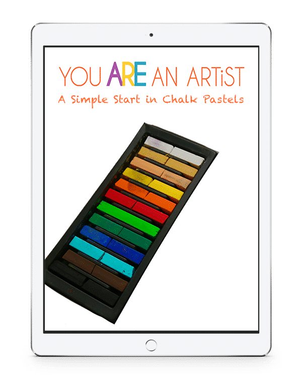 Nana's A Simple Start in Chalk Pastels Video Art Course Charter School Edition because you ARE an artist! Beautiful artwork, tips on colors and chalk pastel techniques.