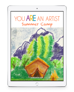 Enjoy Nana's virtual summer art camp! Summer Camp Video Art Lessons complement to your summer fun! Even more fun in the You ARE an Artist Clubhouse.