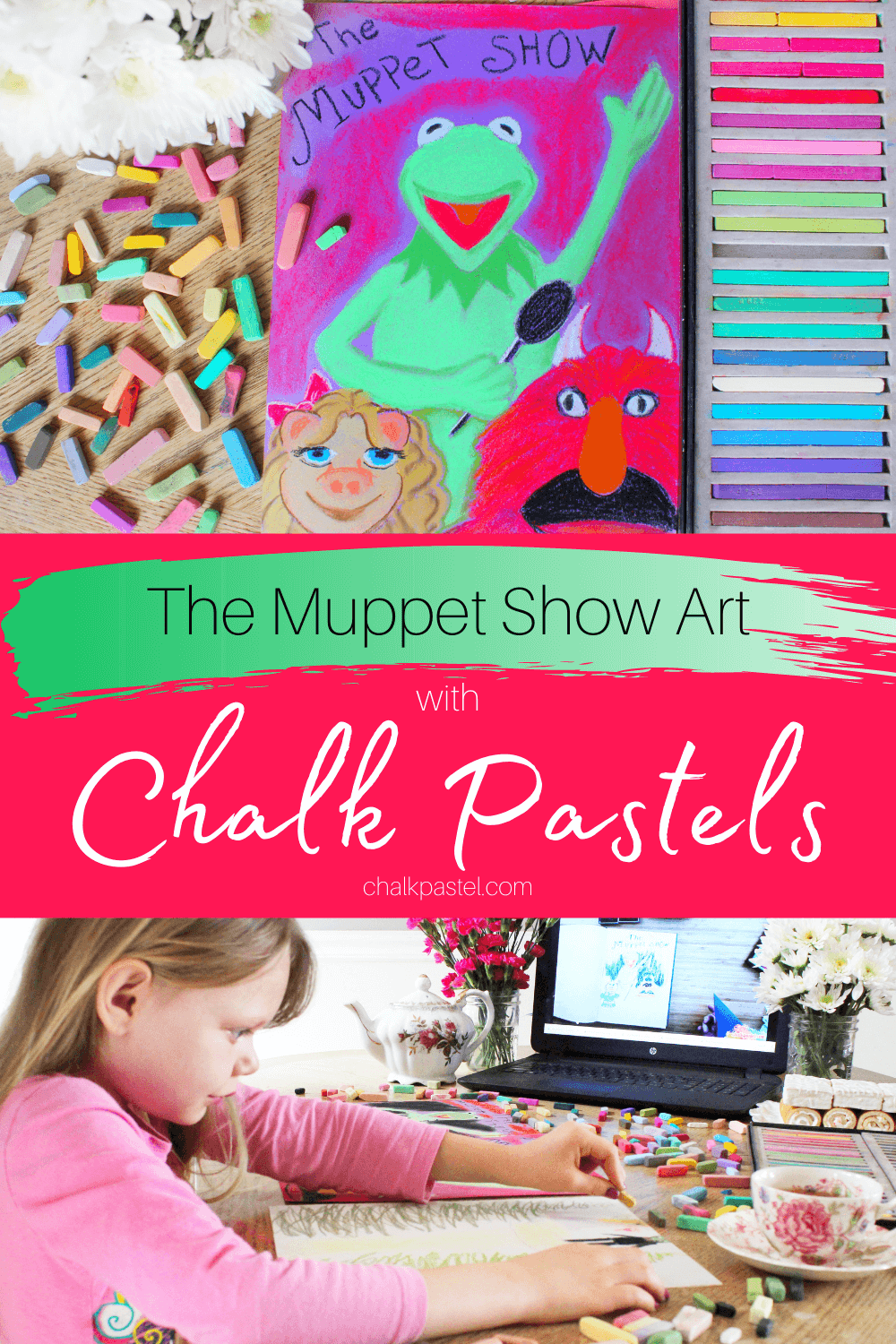The Muppet Show with Chalk Pastels: Celebrate the release of The Muppet Show with chalk pastels! That's right Kermit the Frog, and Miss Piggy are taking center stage with Nana and her chalk pastel lessons! #chalkpastels #chalkpastelsatthemovies #TheMuppets #TheMuppetShow #Muppets #KermittheFrog #Kermit #MuppetShow #chalkpastelvideo #artlesson